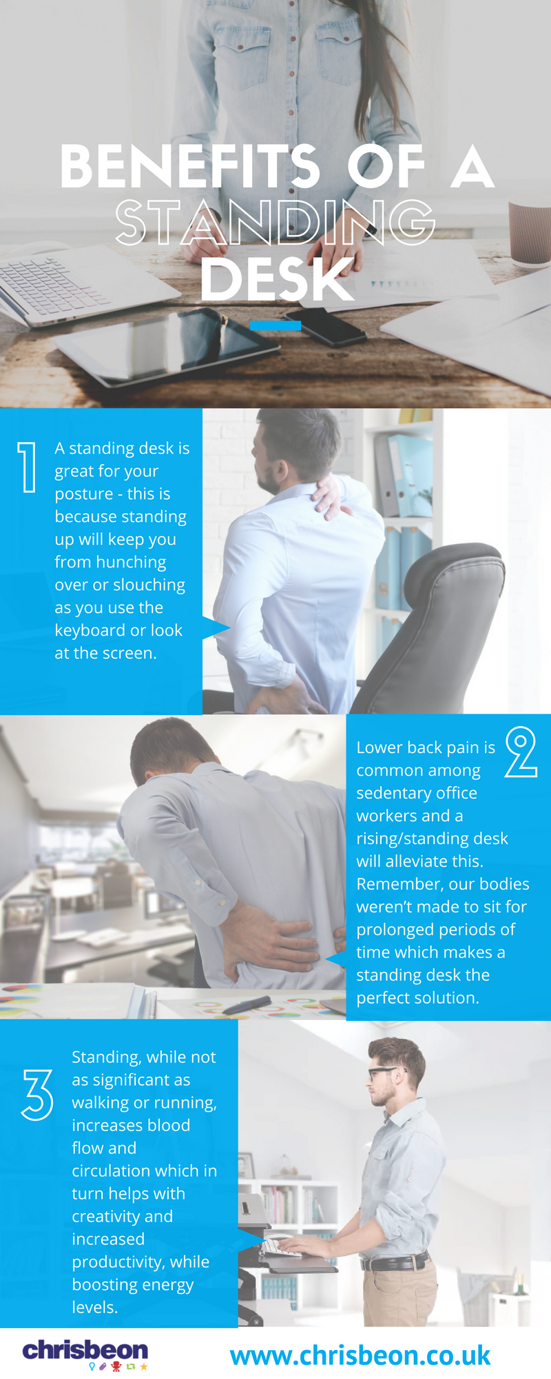 Benefits of a standing desk | Chrisbeon