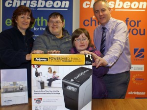 SHROPSHIRE FIRM PRESENTS SHREDDER TO COUNTY CHARITY