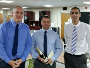 JIM'S CHAMPAGNE TO CELEBRATE 25 YEARS SERVICE