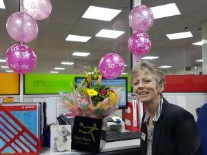 Elaine Celebrates 30 Years Service